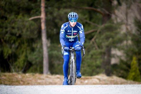 Carl Fredrik Hagen var ikke mange meterne bak vinneren på den første etappen i Arctic Race.