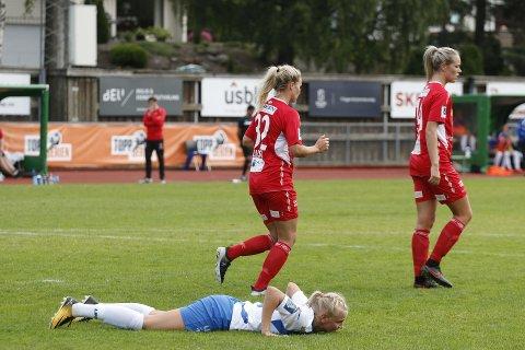 UAVGJORT: Karina Sævik og Kolbotn måtte bite i gresset.