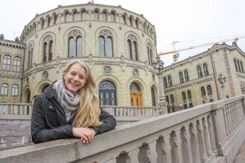 VIKTIG VIPPEPARTI: KrFU-leder Ida Lindtveit Røse fra Oppegård minner om at Krf fortsatt vil være et viktig vippeparti for Erna Solberg.