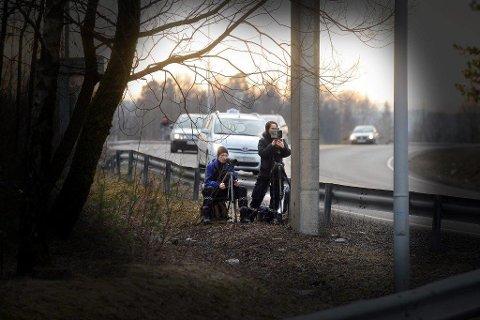 FARTSKONTROLL: Sjåføren fra Ski ble tatt i en fartskontroll på E18 i Holmestrand i begynnelsen av august i år.