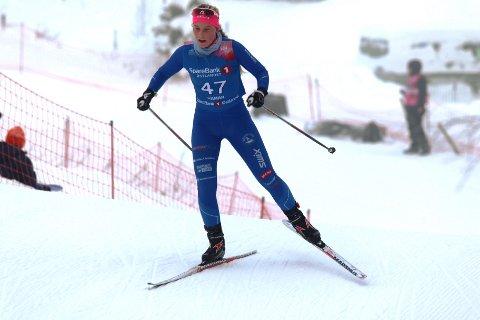 Emilie Kongsten fra Ski var fornøyd med sitt skøyterennn fredag.