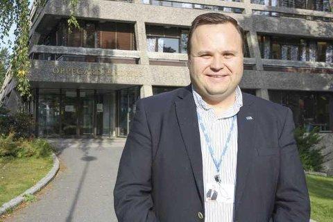 RASKT UTE: Da det ble bestemt at beredskapssenteret kommer til Taraldrud me dde ulemper det medfører, var ordfører Thomas Sjøvold på banen og fremmet ønske om Politihøgskolen med de fordeler den kan gi.