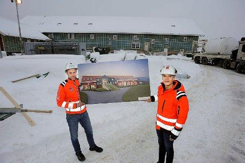 I RUTE: Byggingen av 15 leiligheter på Nordre Finstad Gård er i rute og vil bli klare for innflytting i slutten av mai.