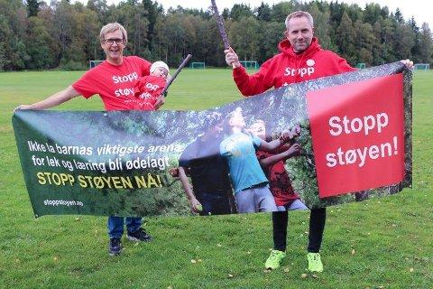 ENGASJEMENT: Stopp Støyen, her ved Hans Fredrik Johansen og Paal Sjøvall, lyktes i å organisere det folkelige engasjementet.