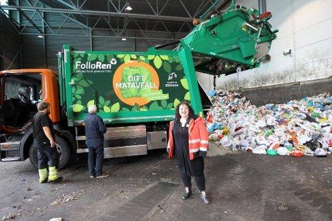 ENDRINGER: Det blir omrokeringer i hvilke dager Follo Ren henter søppelet ditt. På bildet ser vi kommunikasjonssjef Pia Løseth.