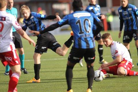Fredrik Leverostad er blant de tidligere Follo FK-spillerne som skal i aksjon i helgen. KFUM Oslo møter Vard Haugesund.