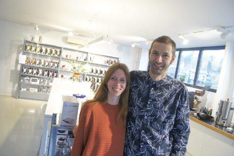 LIPPE AS: Pia von der Lippe fra Oppegård og mannen Alexander von der Lippe driver mikrobrenneriet Lippe AS på Rosenholm. De har etablert seg blant Norges beste innen kaffe.