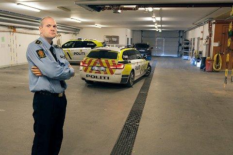 NY AKSJON: Kristoffer Haakonsens tjenestemenn, var tirsdag kveld på ny aksjon på Myrsletta.