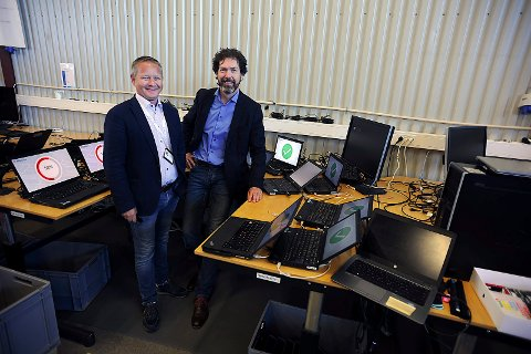 FORNØYDE: Bengt Martinsen, til venstre og Peer Velde er godt fornøyd med konseptet de jobber etter.