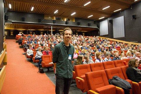 Kinosjef Martin Øsmundset er veldig fornøyd med året som snart er omme.
