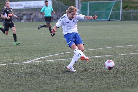 Matias Vedvik scoret en kjempegoal mot Fremad. Her scorer han mot Nesodden i en kamp tidlligere denne sesongen.