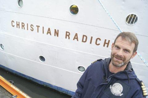 KAPTEINEN: Fridtjof Jungeling, fra Langhus opprinnelig, har vært kaptein på Christian Radich i to år.