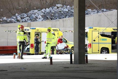 To personer ble skadet i forbindelse med støping av betonggulv på Nygård tirsdag formiddag.