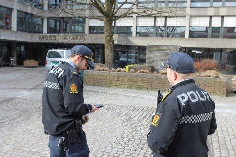 SISTE STOPP: Innbruddet i Moss rådhus ble det siste i det omfattende innbruddsraidet politiet mener to menn på 22 og 35 år står bak. Kvelden før var det Oppegård rådhus som ble utsatt.