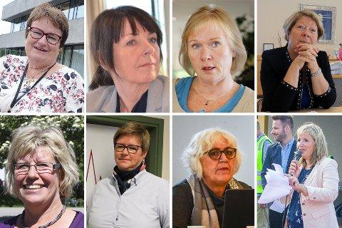 Fra venstre og med klokken: Ellen Benestad, Ellen Wibe, Else Karin Myhrene, Jane Short Aurlien, Jorunn Almaas, Tove Kreppen Jørgensen, Trine Christensen og Vibeke Aaser Grønli.