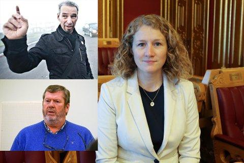SAMMEN MOT GISKE: Tuva Moflag, Christian Braarud og Tom Anders Ludvigsen er samstemte når det gjelder Giskes planer om retur til politikken.