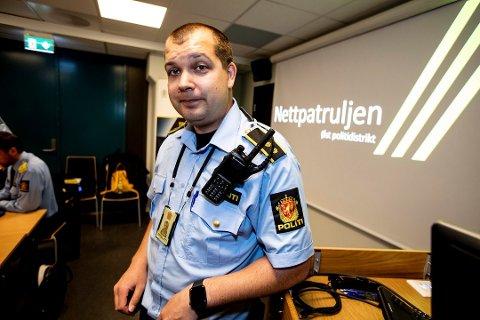 ADVARER: Patruljesjef Jostein Dammyr i Øst politidistrikts nettpatrulje.