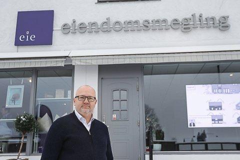 ØKENDE: Daglig leder Joachim Hoff i Eie Eiendomsmegling har tro på økt positivitet i høstens boligmarked.