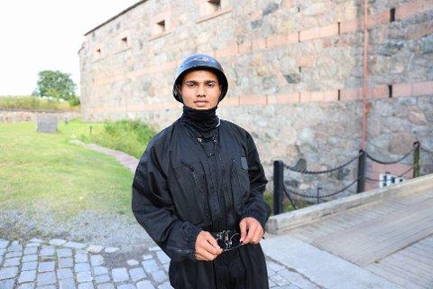 BLIR SPENNENDE: Hasib Ullah Arefzada fra Nesodden synes det blir spennende å vise seg fram i Aida.