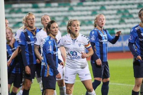 Kaptein Sigrid Heien Hansen og resten av Kolbotn-jentene leverte en svær svak forestilling borte mot Trondheims-Ørn