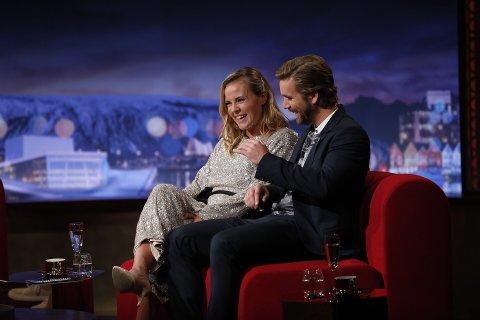 PÅ PLASS: Helene Olafsen og Stian Blipp dukker opp på TV-skjermen igjen i kveld.
