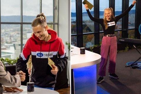 Steffen Hansen (21) fra Siggerud og Kristin Langsrud (20) fra Ås gikk videre i Idol mandag kveld.