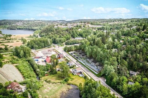 I SKRÅNINGEN: De nye boligene i Markusløkka skal bygges i skråningen ned fra Askehaugåsen mot Nessetveien.
