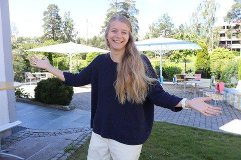 FELLESSKAP: Ida Lindtveit Røse foreslo konkurransen om en Nordre Follo-sang. Nå blir det realitet, og alle kan bidra.