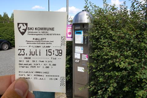Den 23. juli ble dette bildet tatt, parkeringslappen du får idag har de samme feilene