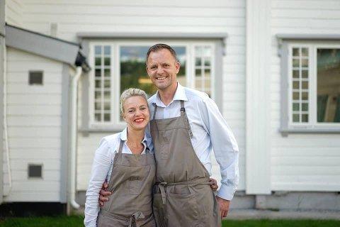 HÅP: Helene Jahren og Vebjørn Kristian Aarflot håper på å få mulighet til å åpne Gamle Tårnhuset restaurant i slutten av april.
