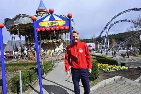 NESTEN KLAR: Direktøren på Tusenfryd, Bjørn Håvard Solli, åpner portene 13. juni, men alt er ikke spikret når det kommer til smittevern.