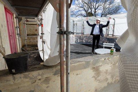 GLAD: Generalsekretær Børre Skiaker i KNA gleder seg til å kunne ta i bruk takterrassen.