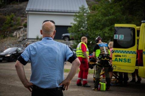 HARDT SKADET: Mannen i 40-årene har pådratt seg alvorlige skader som følge av badeulykken sist lørdag.