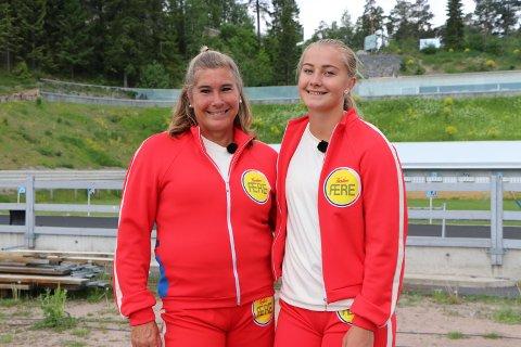 TEAM HATTESTAD: Trine og Julie konkurrerer mot fem andre familier i høstens NRK-satsing Familiens ære.