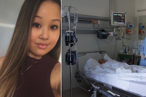 Lena Tran (22) har nylig kommet hjem etter å ha vært isolert på Haukeland sykehus i fem uker.