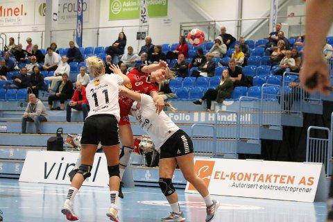 BLE STOPPET: Katarina Ugland og Follo HK Damer kom til kort mot Levanger i Stil Arena.