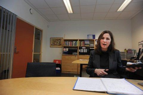 IKKE FORNØYD: Områdeleder for skole, oppvekst og læring, Katti Anker Teisberg er ikke fornøyd med tallene hun har fått presentert, angående vold og trakassering av lærere i kommunen.