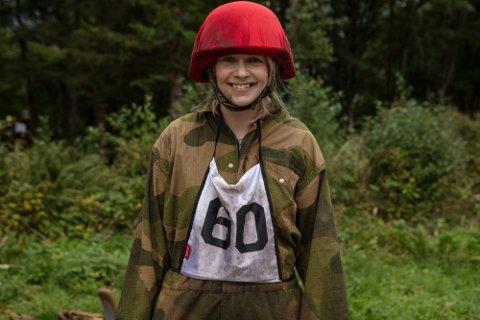 SOSIALT EKSPERIMENT: Christine Dancke takket ja til deltakelsen for å teste grensene sine og for å gi seg selv eksponeringsterapi. Foto: Matti Bernitz (TV 2)