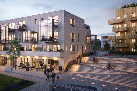 DRØYT HALVPARTEN: - 18 av 34 leiligheter i første salgstrinn er solgt. Nå forbereder vi andre salgstrinn, forteller Stig Reklev hos Privatmegleren.