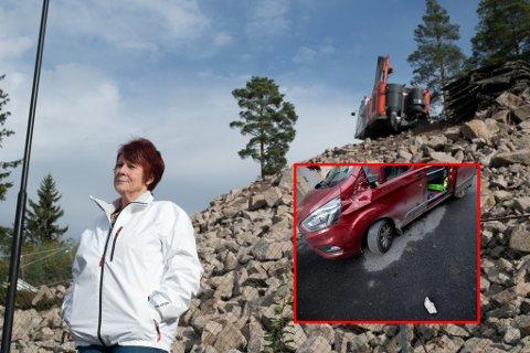 SKVATT: Mona Monsen er nabo til anleggsområdet der sprengningsulykken skjedde torsdag formiddag