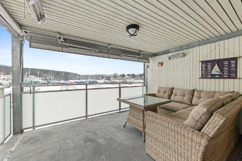 Utsikten til båtlivet i Son frister mange. Denne leiligheten ble kuppet før visning.