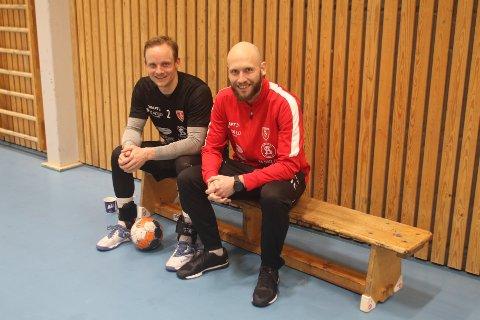 NY DUO: Lukas Karlsson (t.v.) og Mats Julius Haakenstad skal trene Follo HK neste sesong.