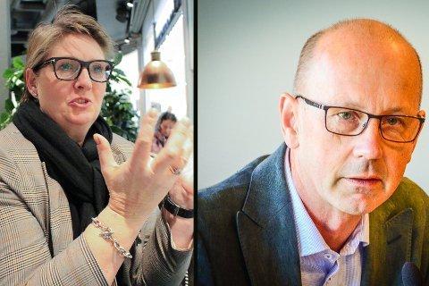 ENGASJERTE: Både Hanne Opdan og Ola Nordal, ordførere i Nordre Follo og Ås, leser Østlandets Blad, og kommenterer her gårsdagens artikkel om NTP og E18.