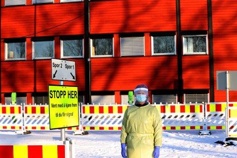 REKORD: 11 personer testet positivt for korona på testsenteret i Frogn kommune på tirsdag. Det er ny rekord.