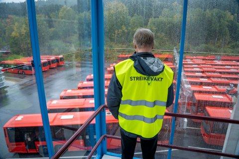 STREIK: Alle reisende slipper å forholde seg til noe storstreik blant bussjåførene.