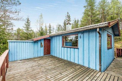 RIMELIGST I FOLLO: Den blå hytta i Dalefjerdingen er den rimeligste i Follo på Finn.no akkurat nå.
