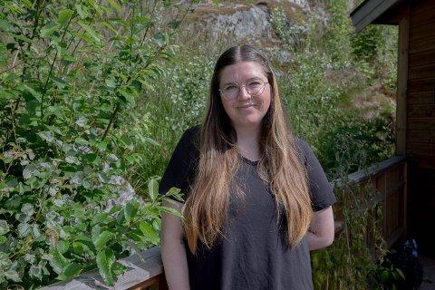 ENGASJERT: Tabitha Russell (32) fra California er ekstra engasjert i norsk politikk.