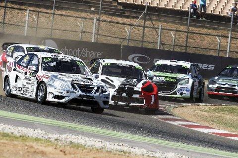 Nytt løp i helgen: Alexander Hvaal (i midten) kjører VM-runde i Tyrkia denne helgen.Arkivfoto: Rallycross HU