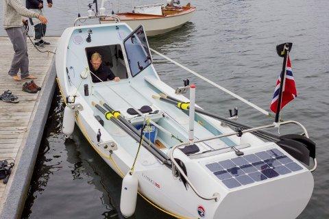 Båten: Robåten har nylig ankommet Norge og Seilerhytta.