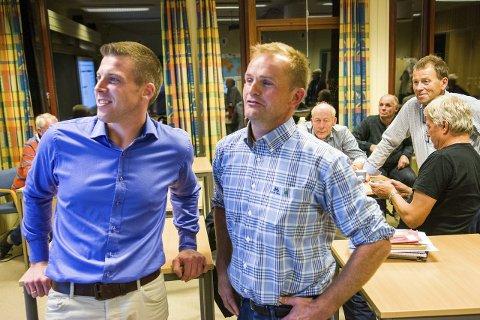 Snart enige: Alt tyder på at Lars Johan Røsholt fra Høyre og Sps Knut Olav Omholt snart er i mål med forhandlingene som også inkluderer Ap. At Omholt blir ordfører er det liten spenning knyttet til.